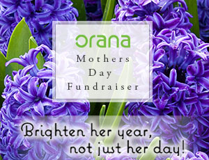 Orana, Mothers Day, Mothers Day Flowers, Flowers Fundraiser