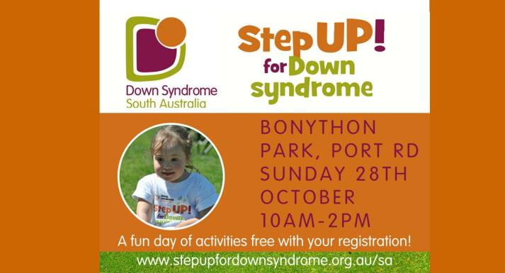 step up for down syndrome flyer